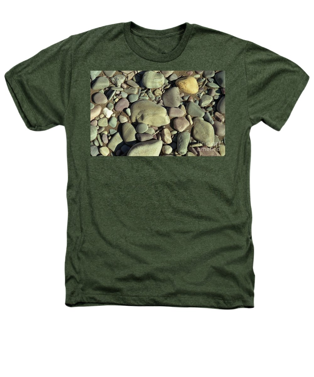 River Rock Heathers T-Shirt featuring the photograph River Rock by Richard Rizzo