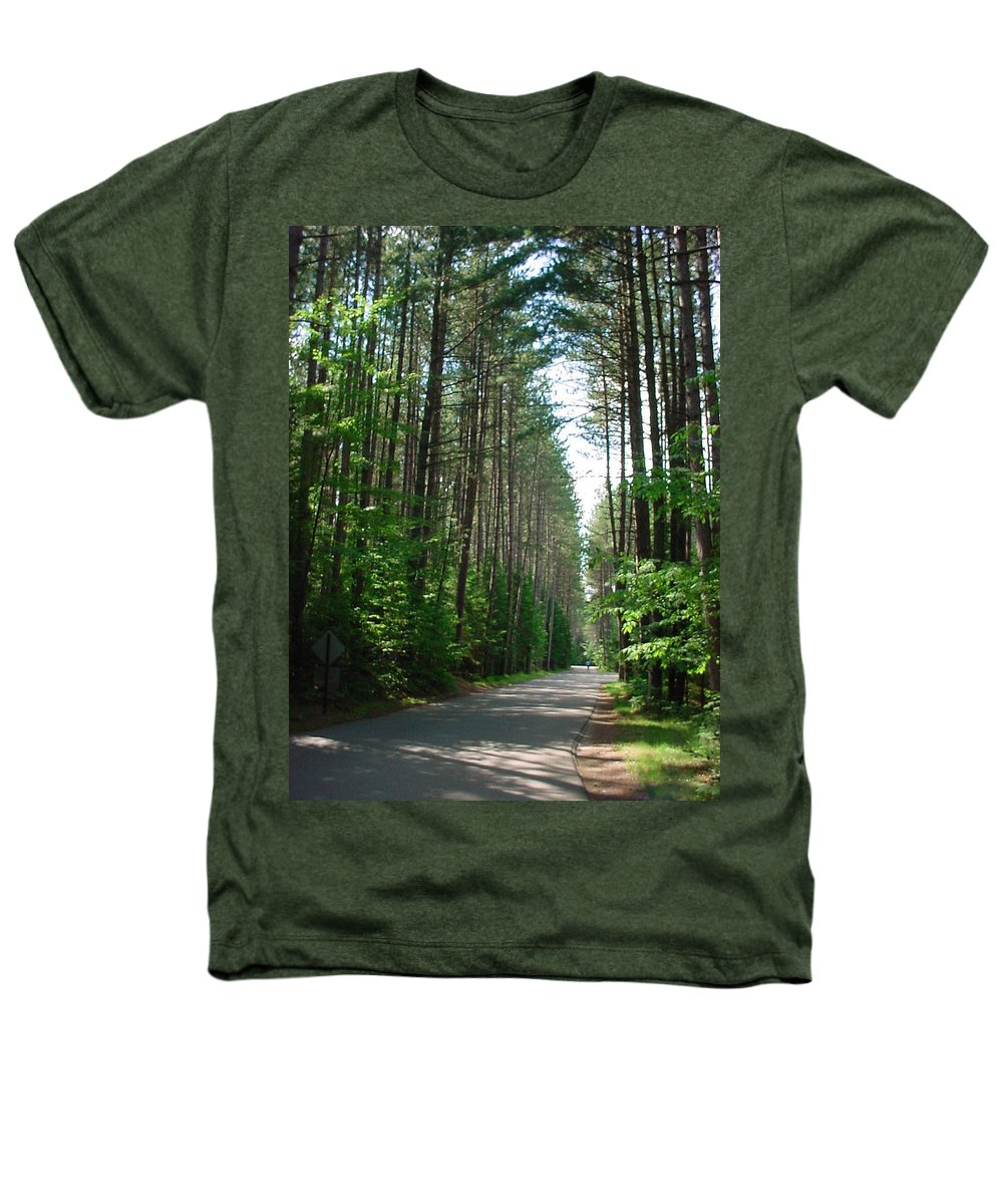 Fish Creek Heathers T-Shirt featuring the photograph Roadway At Fish Creek by Jerrold Carton