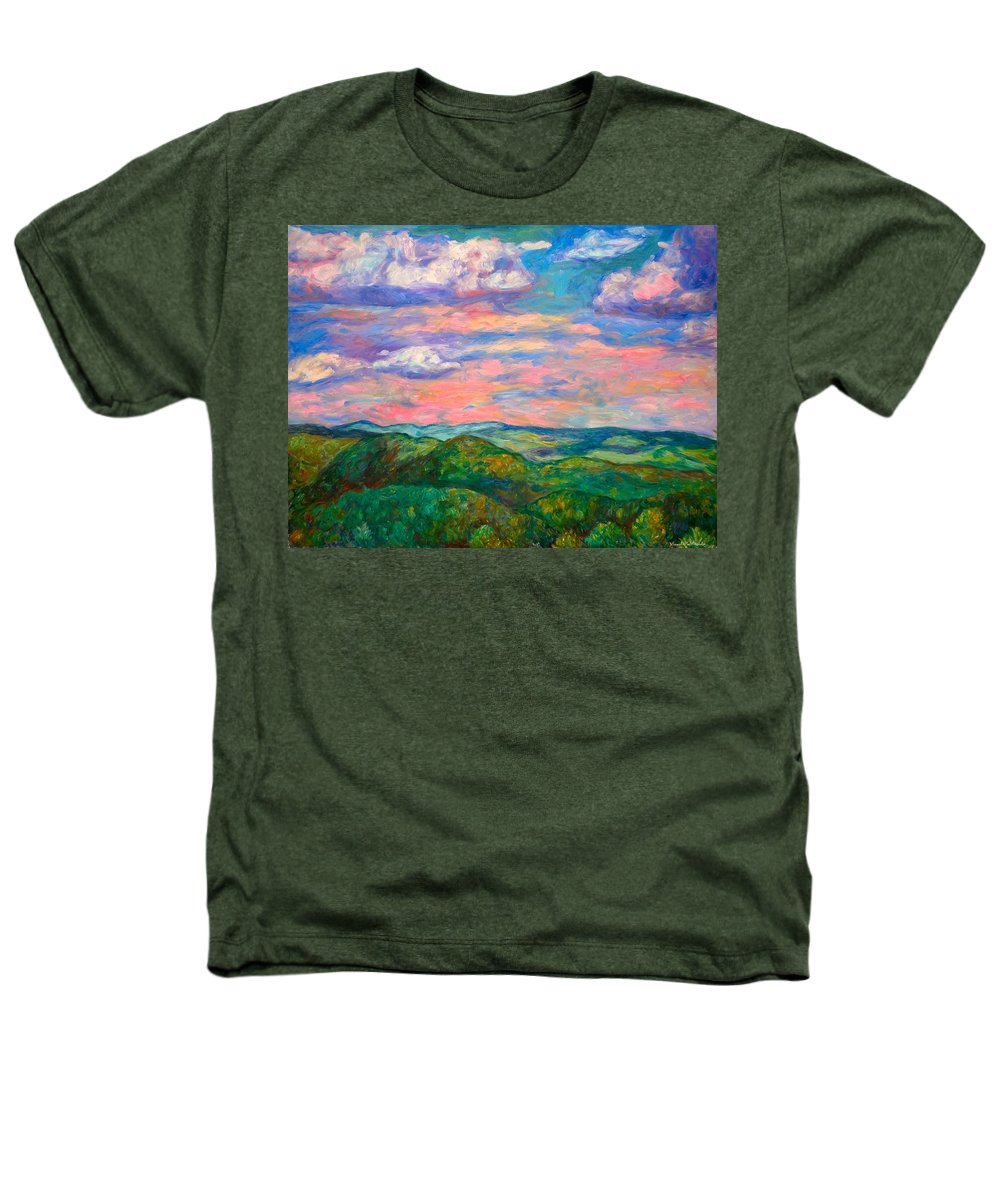 Landscape Paintings Heathers T-Shirt featuring the painting Rock Castle Gorge by Kendall Kessler