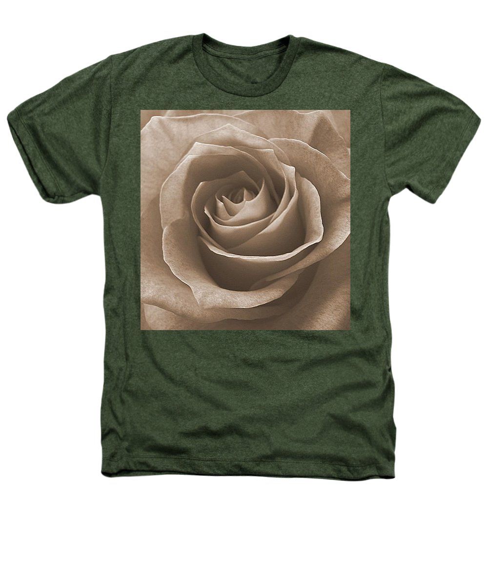 Rose Sepia Pedals Heathers T-Shirt featuring the photograph Rose In Sepia by Luciana Seymour