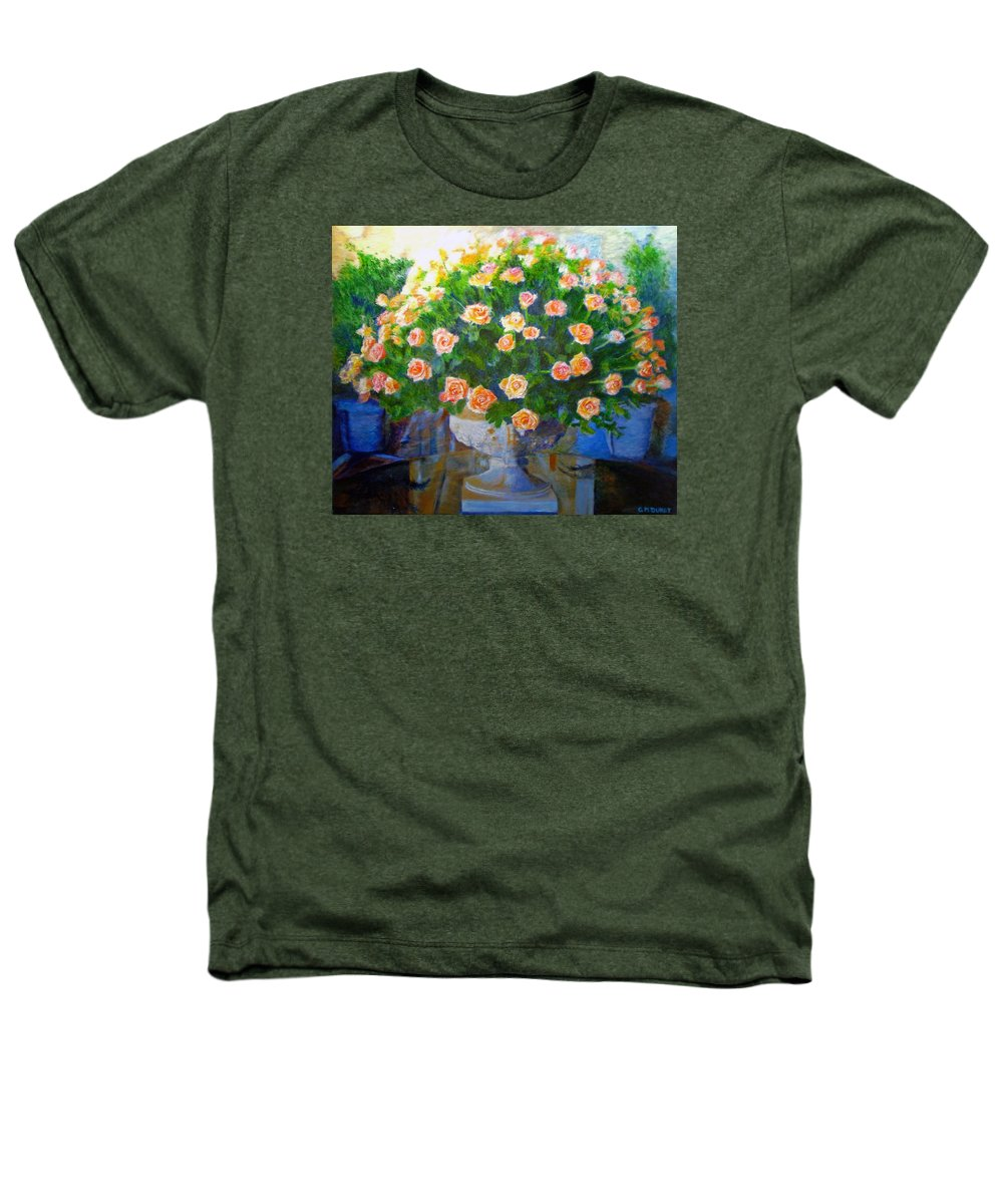 Rose Heathers T-Shirt featuring the painting Roses At Table Bay by Michael Durst