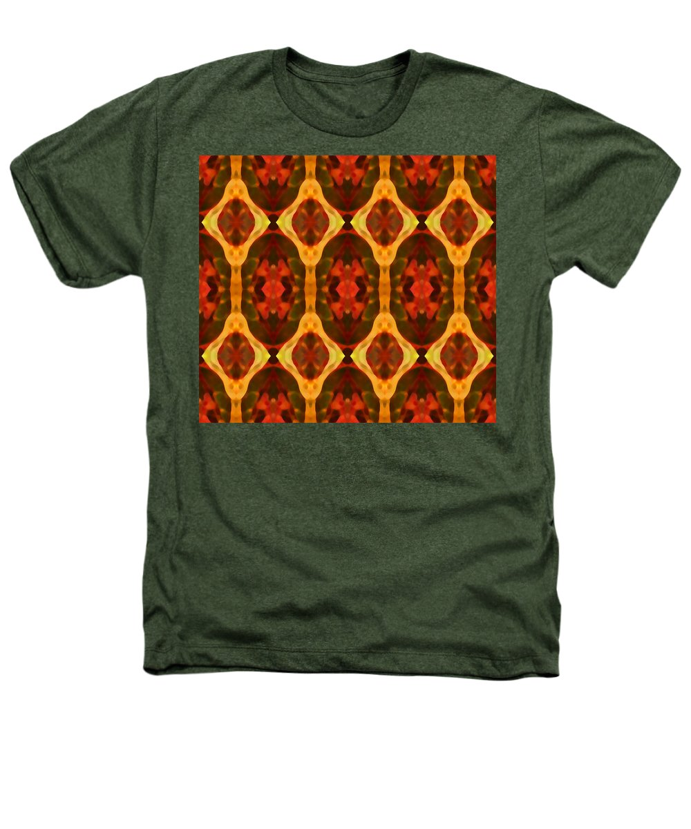 Abstract Heathers T-Shirt featuring the painting Ruby Glow Pattern by Amy Vangsgard