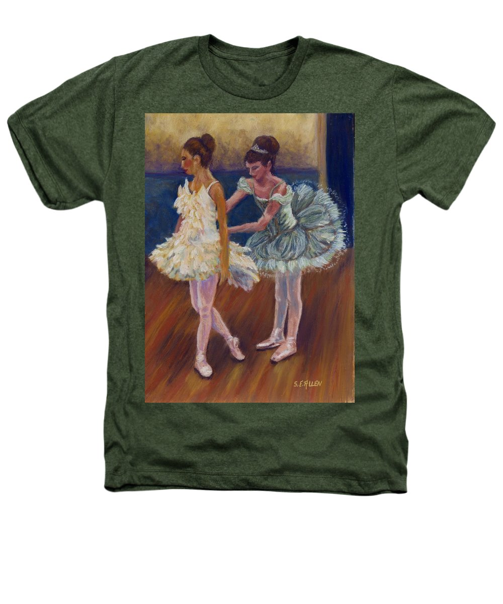 Ballerina Heathers T-Shirt featuring the painting Ruffled Feathers by Sharon E Allen