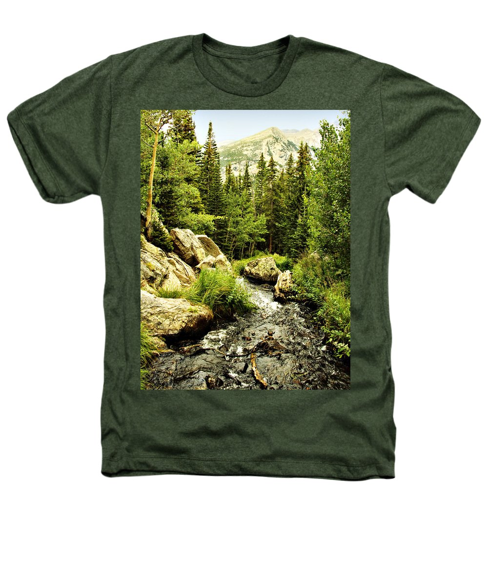 Colorado Heathers T-Shirt featuring the photograph Running River by Marilyn Hunt