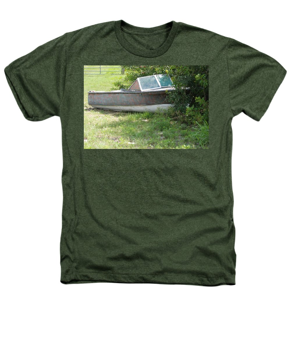 Boat Heathers T-Shirt featuring the photograph S S Minnow by Rob Hans