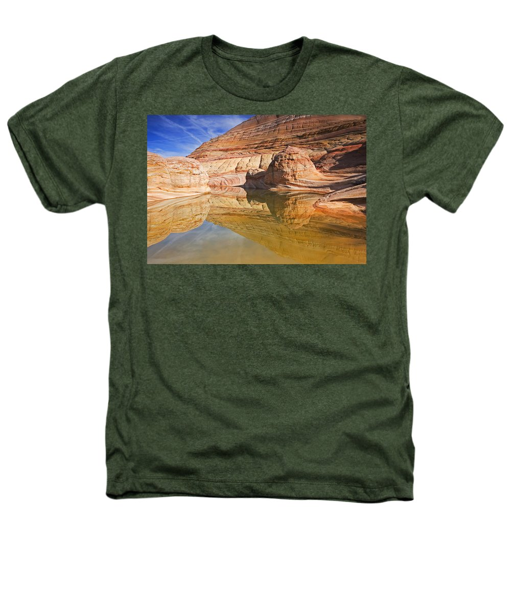 Pool Heathers T-Shirt featuring the photograph Sandstone Illusions by Mike Dawson