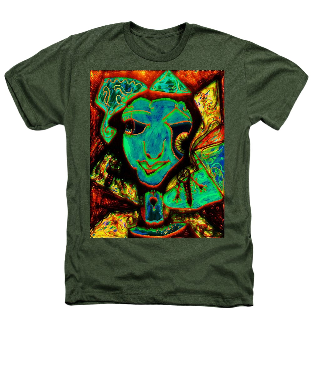 Fantasy Heathers T-Shirt featuring the painting Self Portrait by Natalie Holland