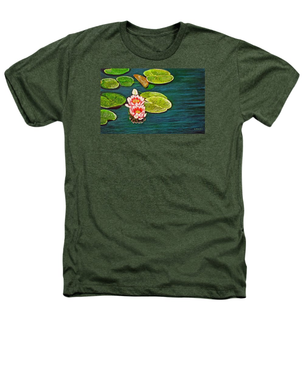 Water Lily Heathers T-Shirt featuring the painting Serenity by Michael Durst