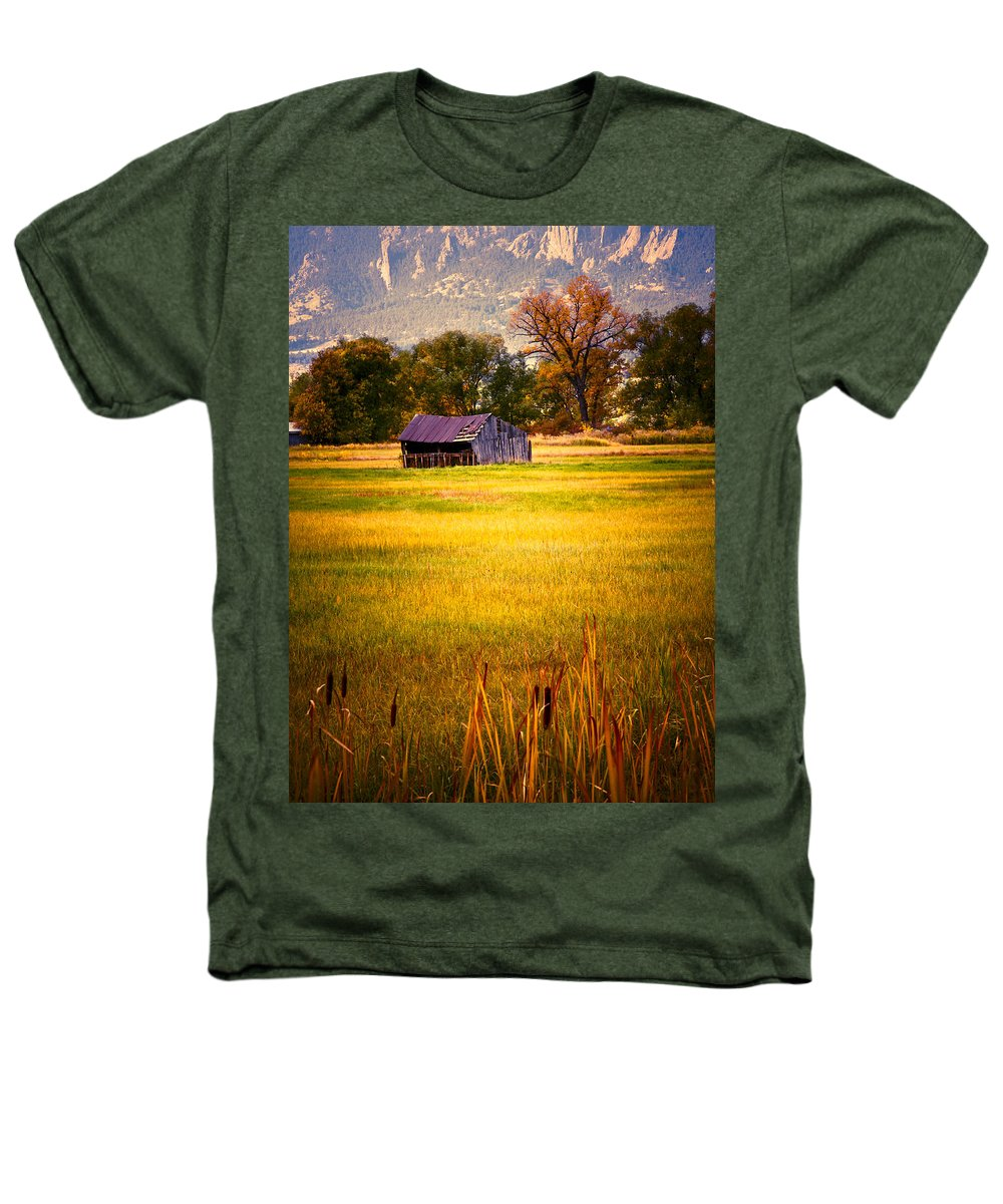 Shed Heathers T-Shirt featuring the photograph Shed In Sunlight by Marilyn Hunt