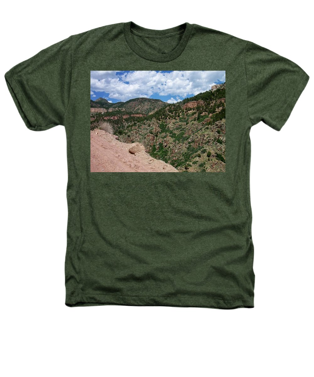 Shelf Road Heathers T-Shirt featuring the photograph Shelf Road Drop Off by Anita Burgermeister