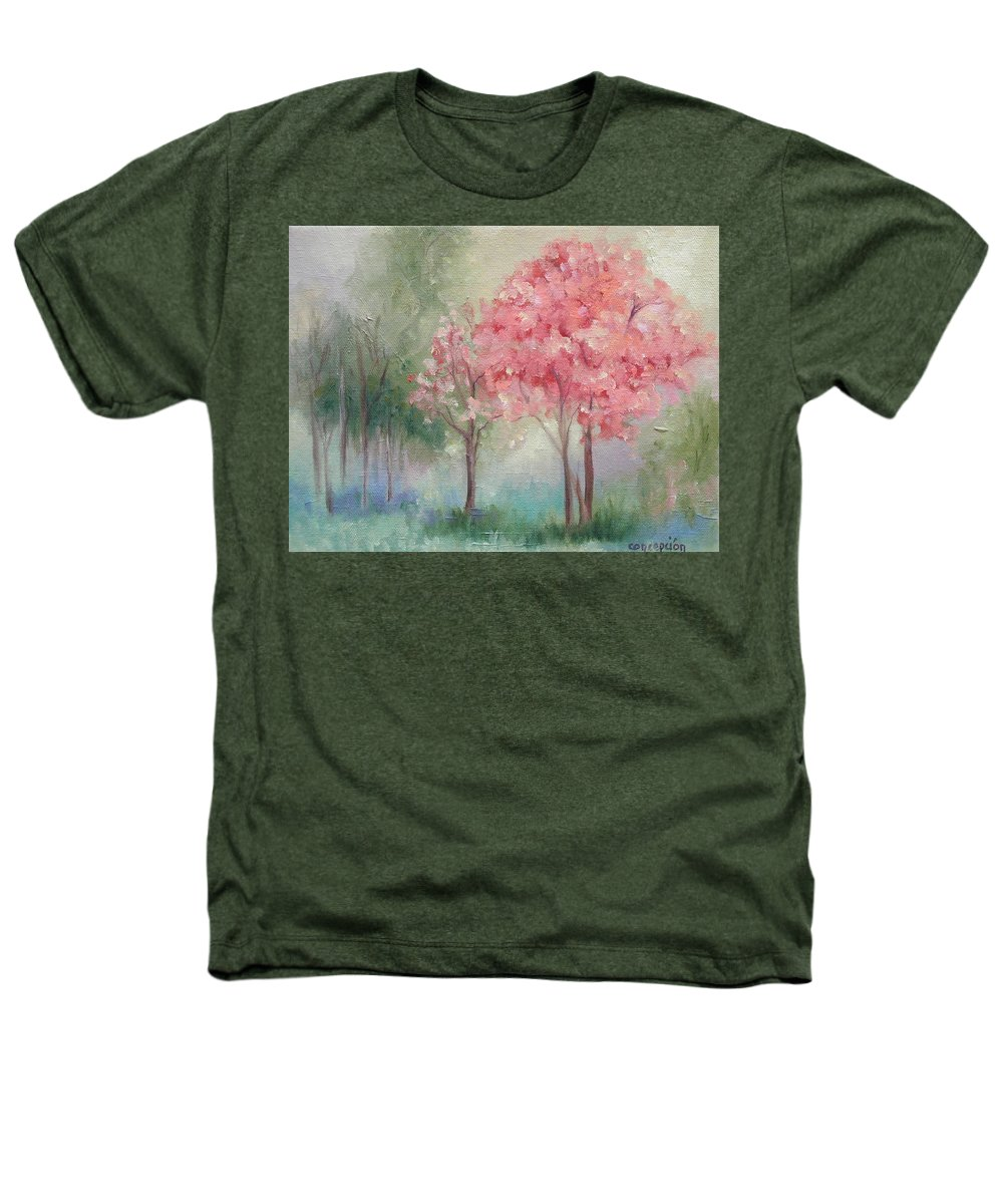 Spring Heathers T-Shirt featuring the painting Sign Of Spring by Ginger Concepcion