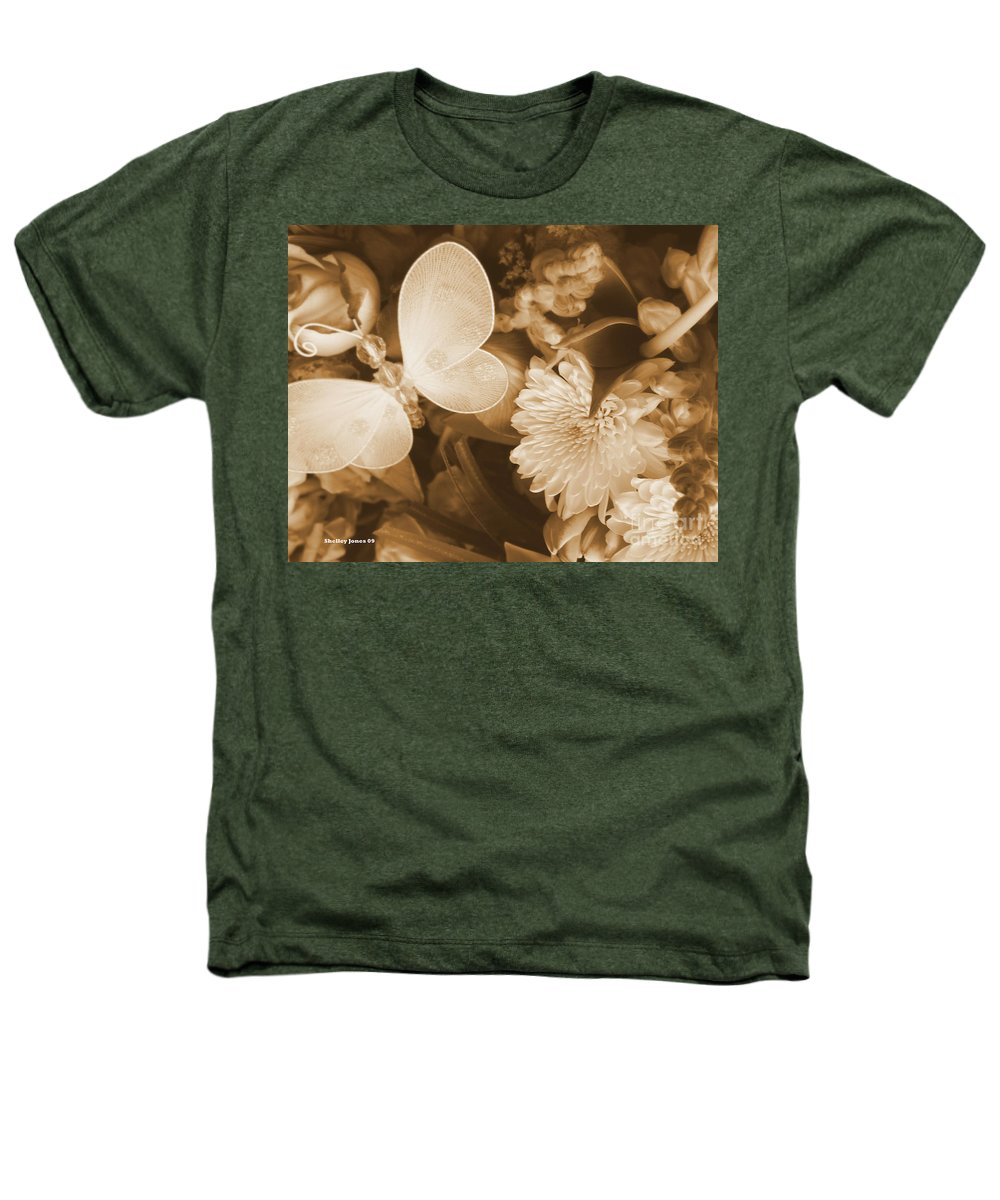 Photography Enhanced Heathers T-Shirt featuring the photograph Silent Transformation Of Existence by Shelley Jones