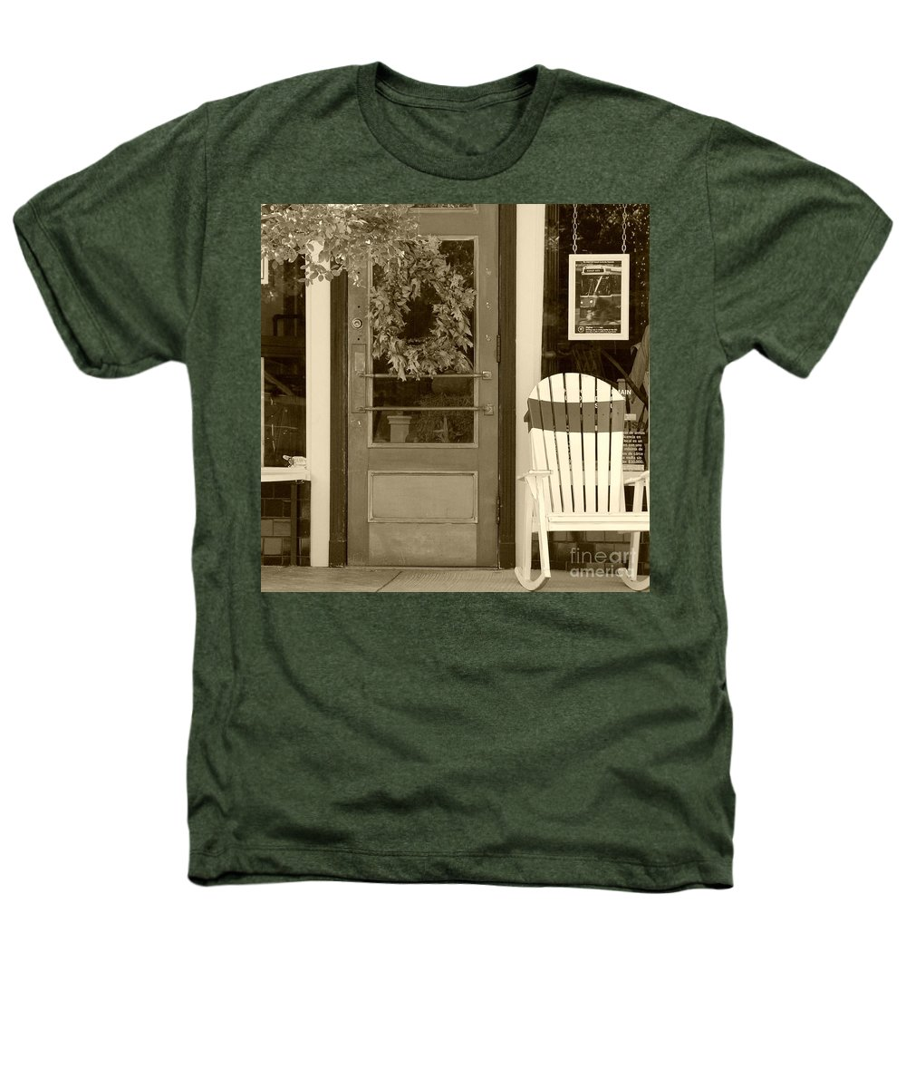 Rocking Chair Heathers T-Shirt featuring the photograph Simple Times by Debbi Granruth