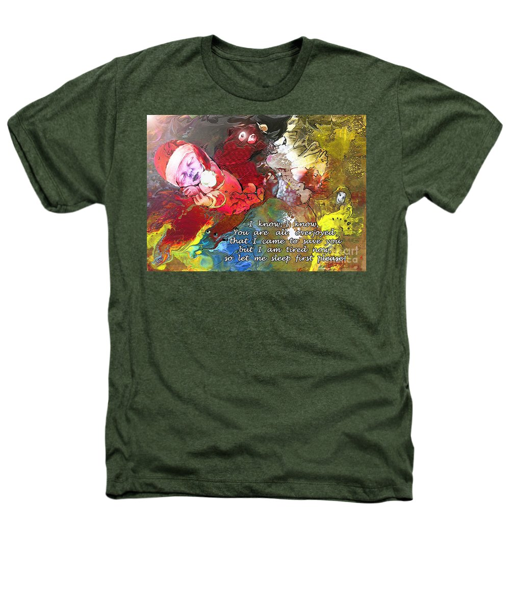Messiah Painting Heathers T-Shirt featuring the painting Sleepig Messiah by Miki De Goodaboom