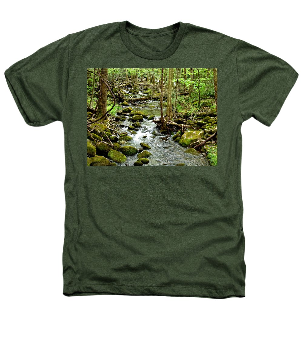 Smoky Mountains Heathers T-Shirt featuring the photograph Smoky Mountain Stream 1 by Nancy Mueller