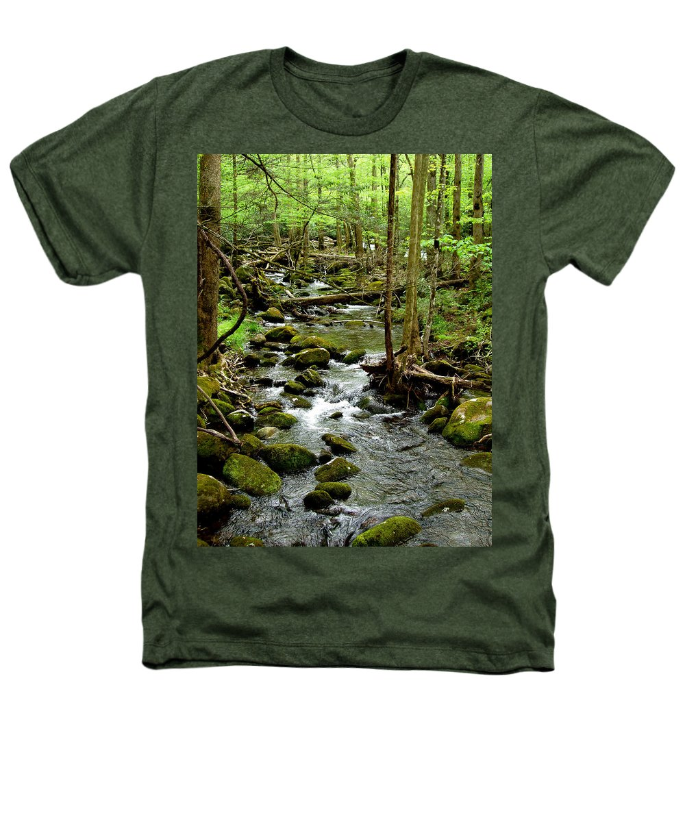 River Heathers T-Shirt featuring the photograph Smoky Mountain Stream 2 by Nancy Mueller