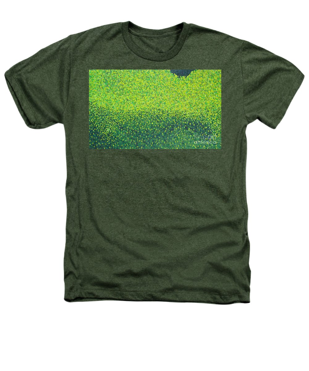 Abstract Heathers T-Shirt featuring the painting Soft Green Wet Trees by Dean Triolo