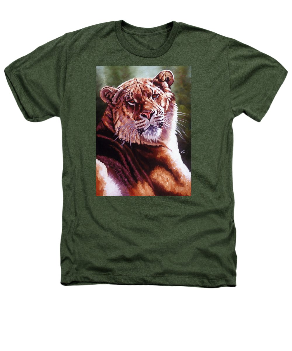Hybrid Heathers T-Shirt featuring the painting Sophie The Liger by Barbara Keith