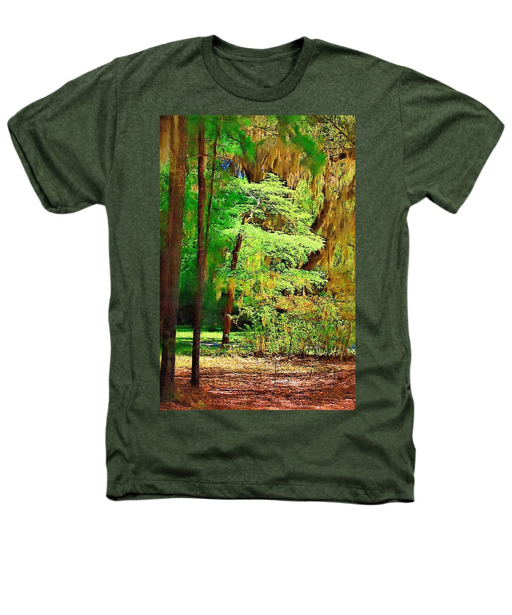 Woods Heathers T-Shirt featuring the photograph Southern Forest by Donna Bentley