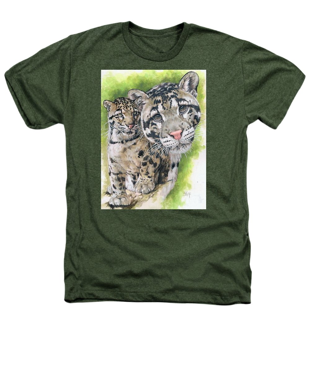 Clouded Leopard Heathers T-Shirt featuring the mixed media Sovereignty by Barbara Keith