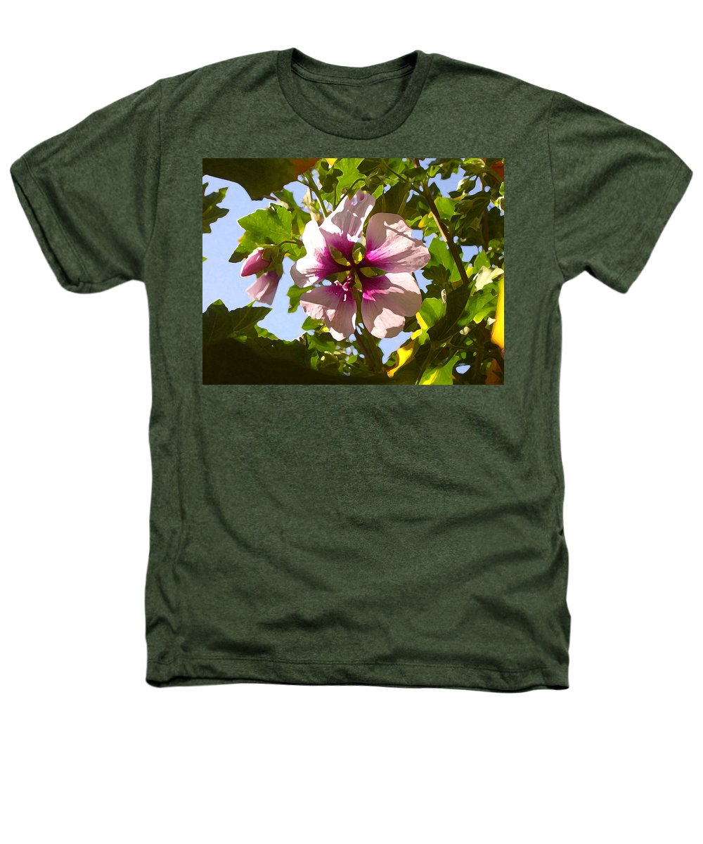Flower Heathers T-Shirt featuring the painting Spring Flower Peeking Out by Amy Vangsgard