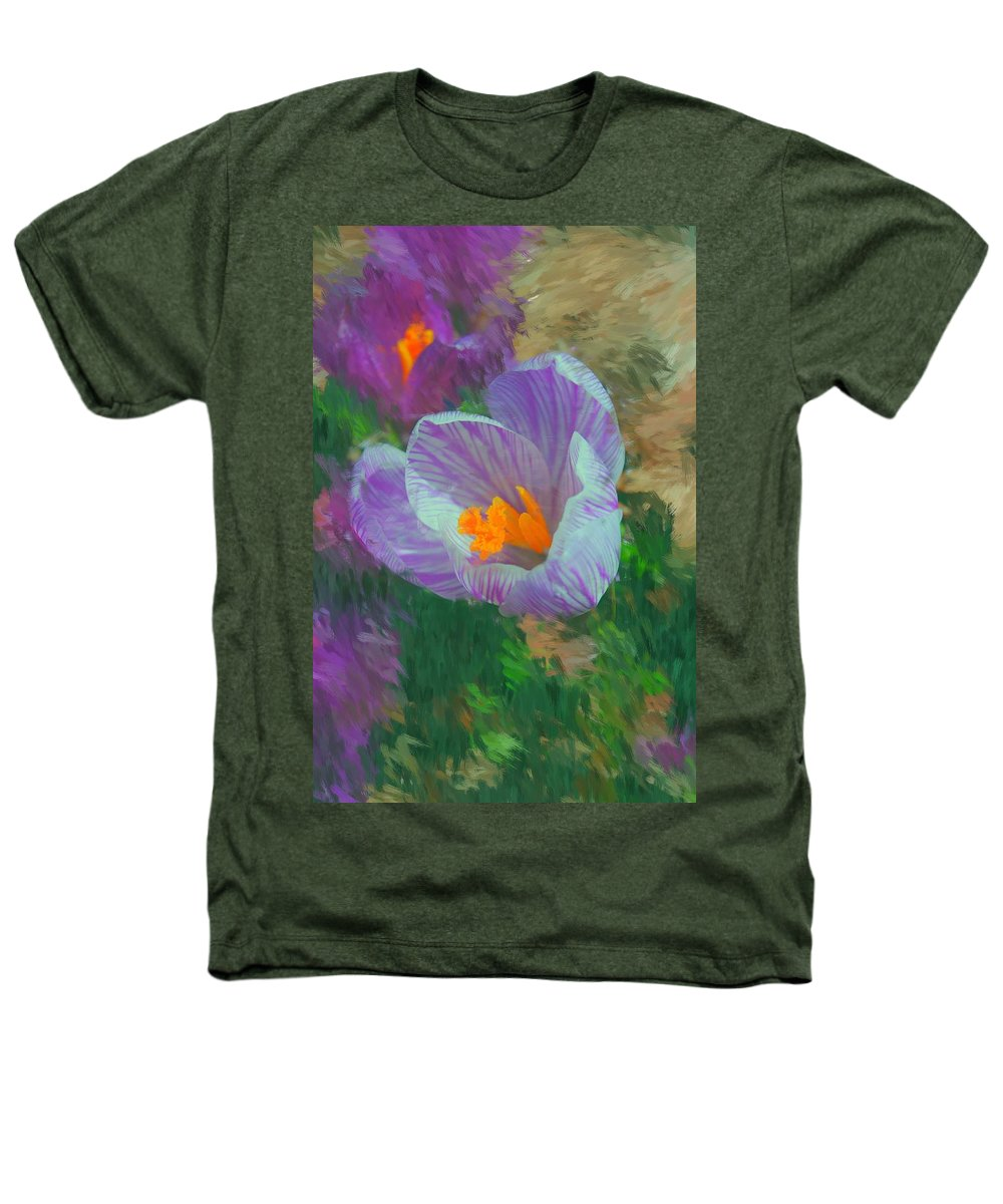 Digital Photography Heathers T-Shirt featuring the digital art Spring Has Sprung by David Lane