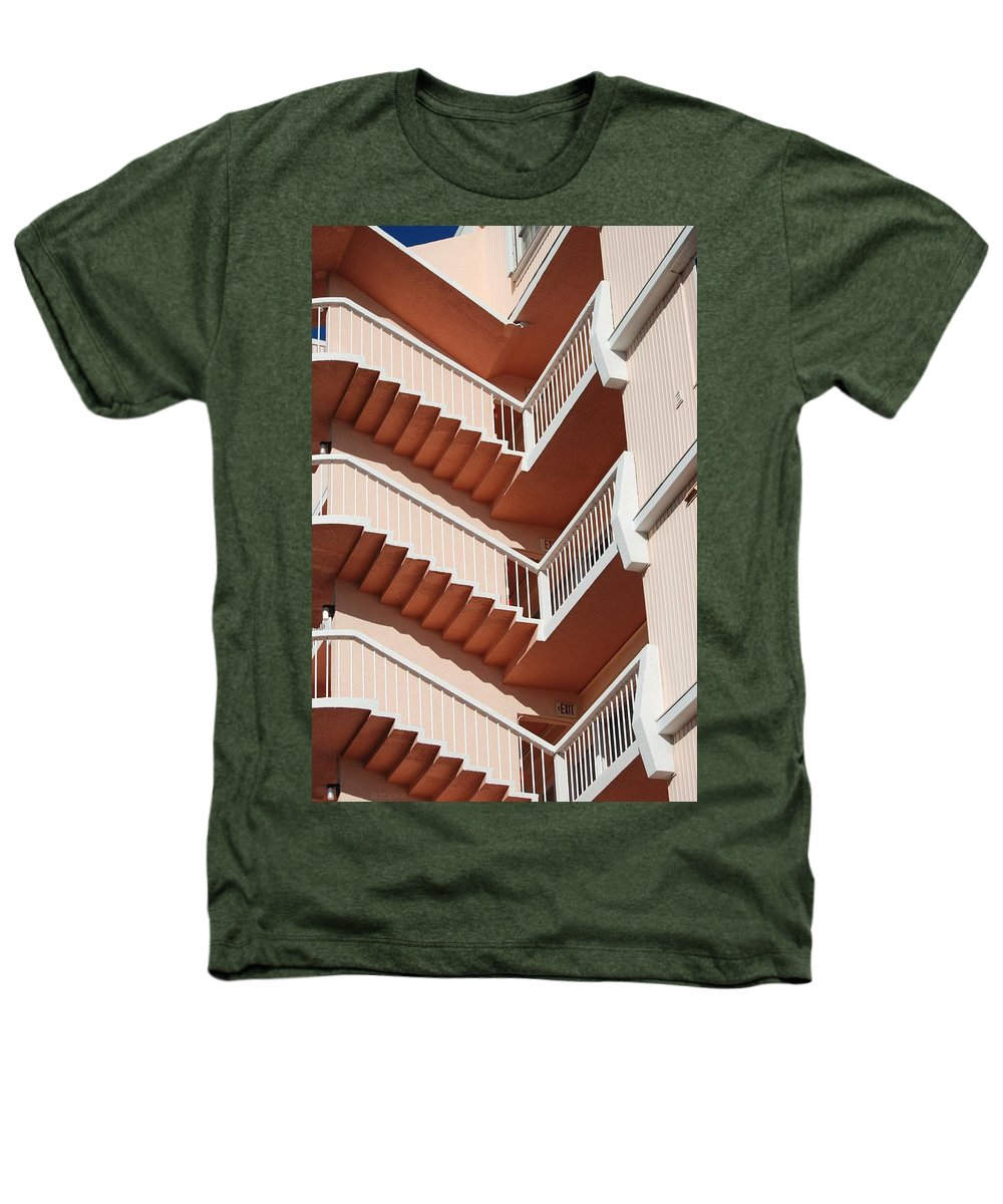 Architecture Heathers T-Shirt featuring the photograph Stairs And Rails by Rob Hans