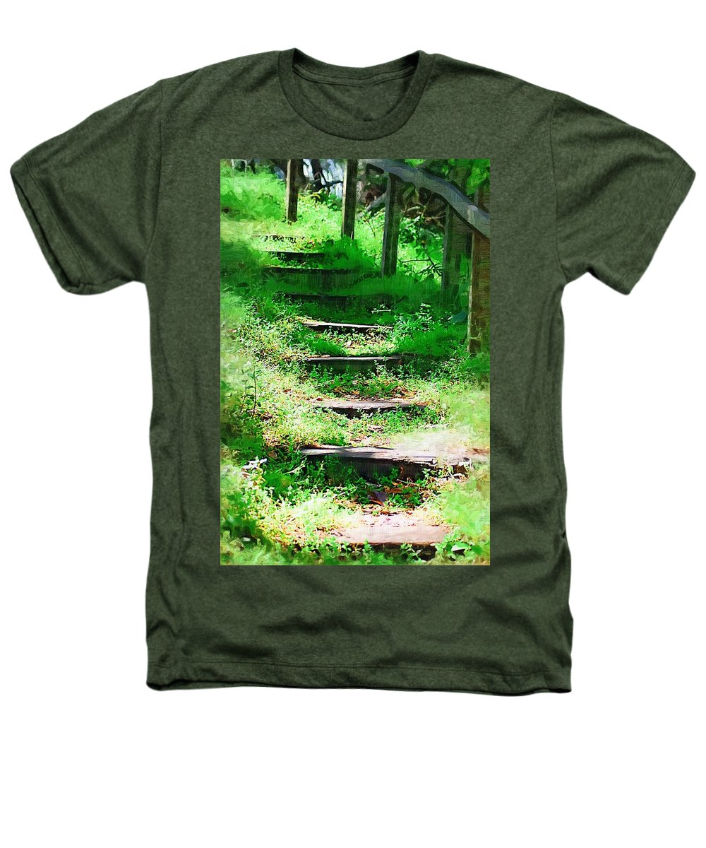 Stairs Heathers T-Shirt featuring the photograph Stairway To Heaven by Donna Bentley