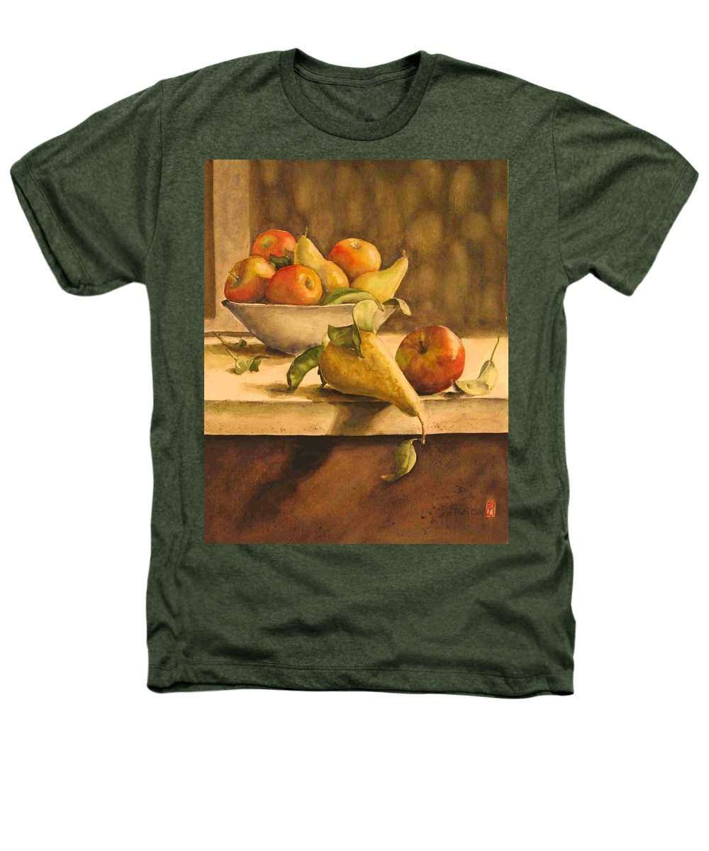 Still-life Heathers T-Shirt featuring the painting Still-life With Apples And Pears by Piety Choi