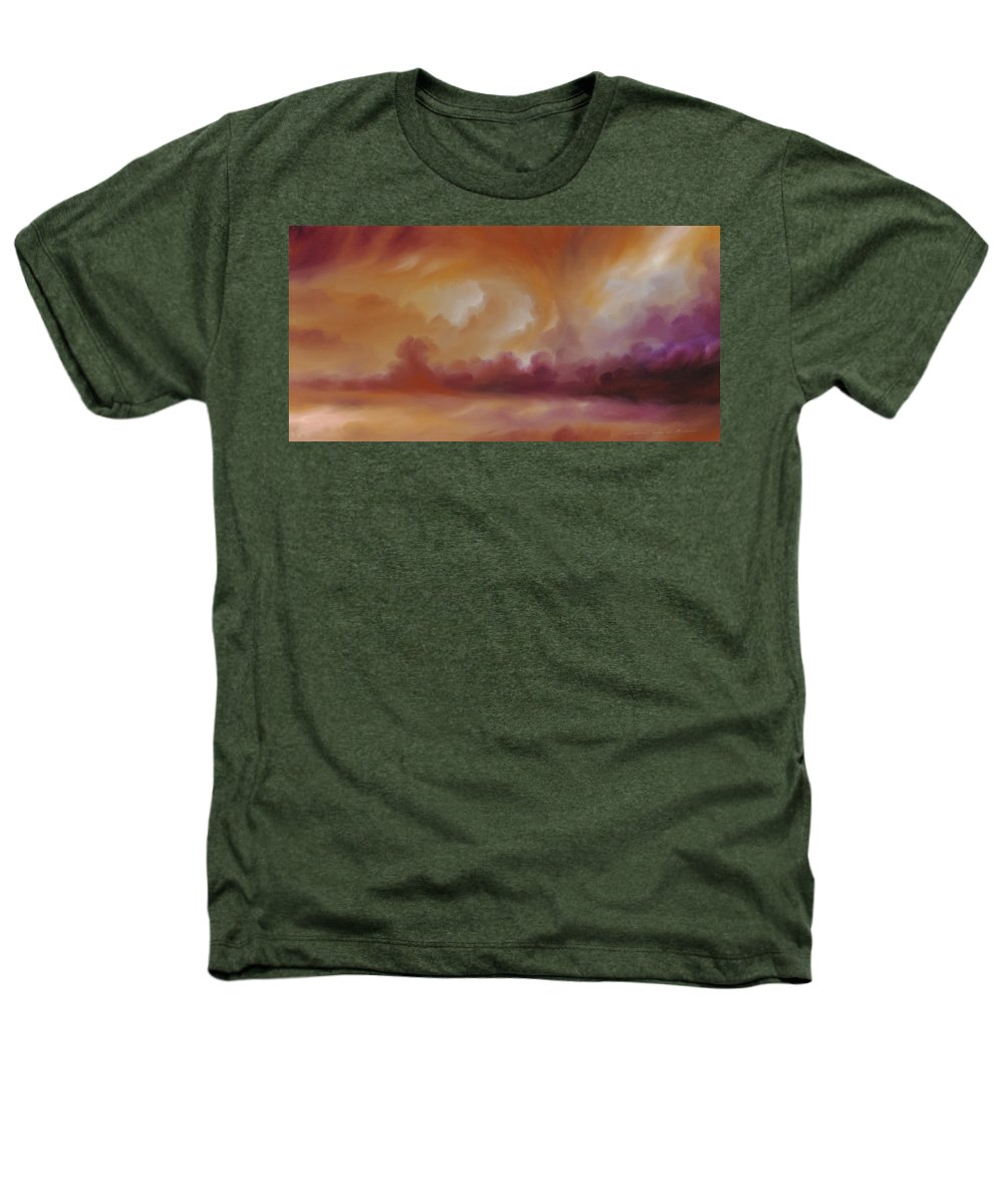 Tempest Heathers T-Shirt featuring the painting Storm Clouds 2 by James Christopher Hill
