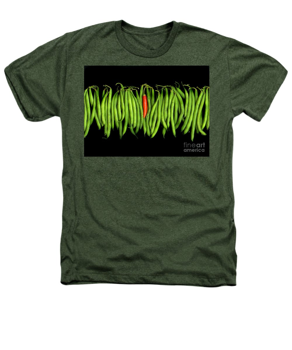 Culinary Heathers T-Shirt featuring the photograph Stringbeans And Chilli by Christian Slanec