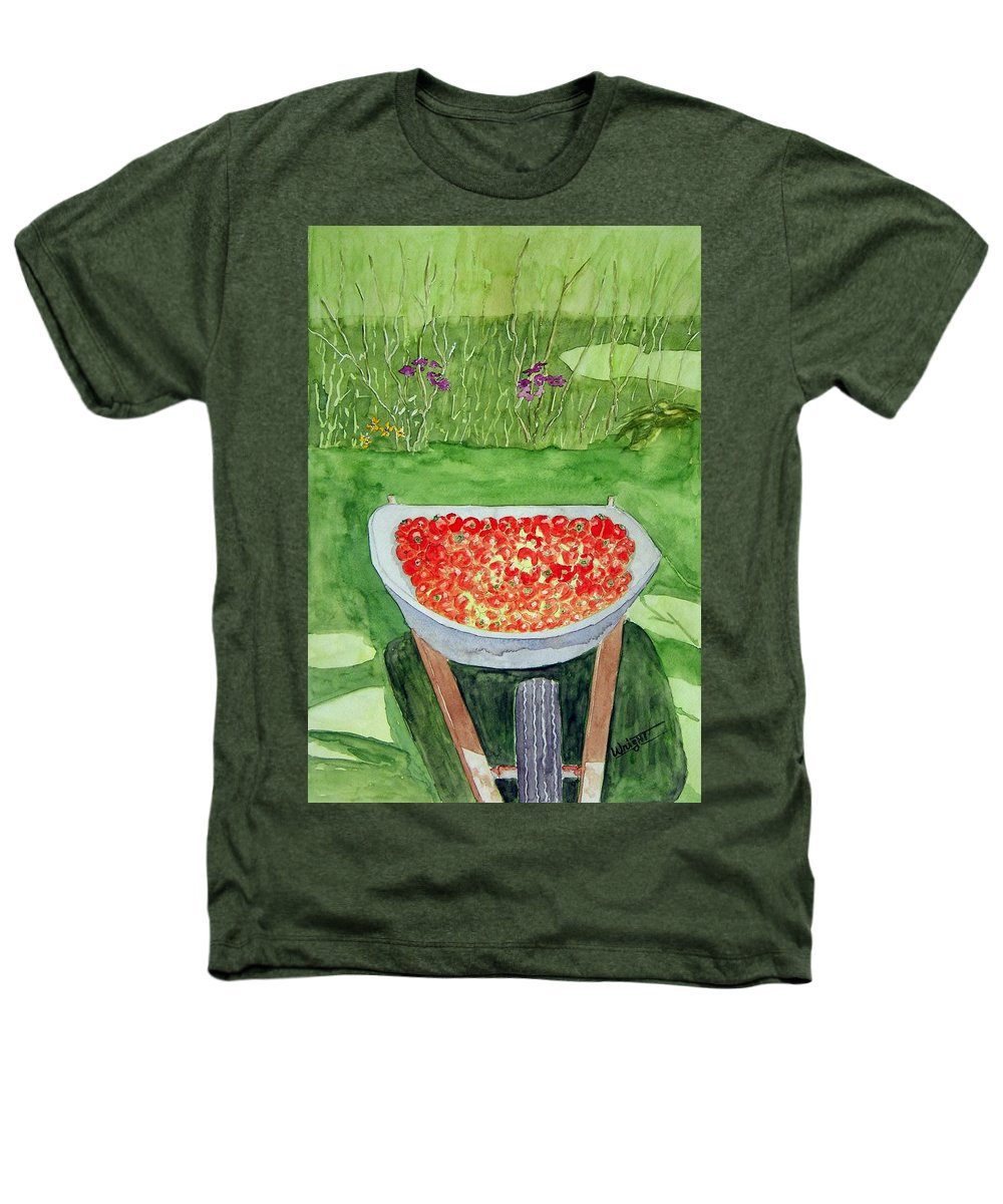 Rural Paintings Heathers T-Shirt featuring the painting Summer Bounty by Larry Wright