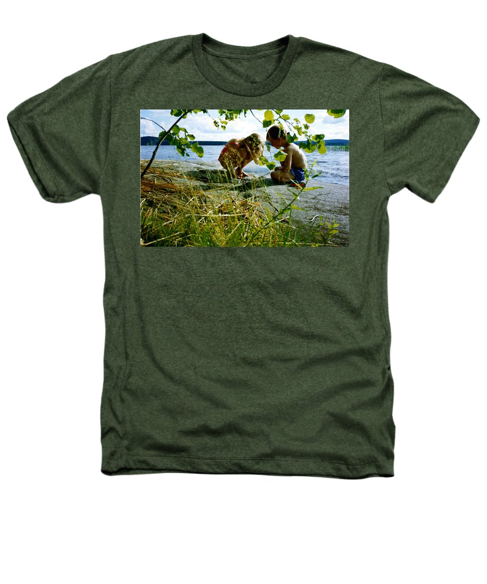 Kids Heathers T-Shirt featuring the photograph Summer Fun In Finland by Merja Waters