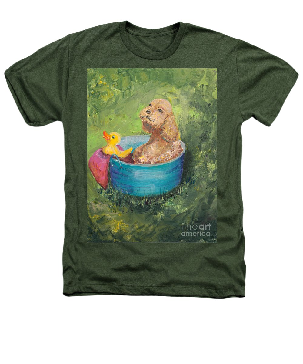 Dog Heathers T-Shirt featuring the painting Summer Fun by Nadine Rippelmeyer