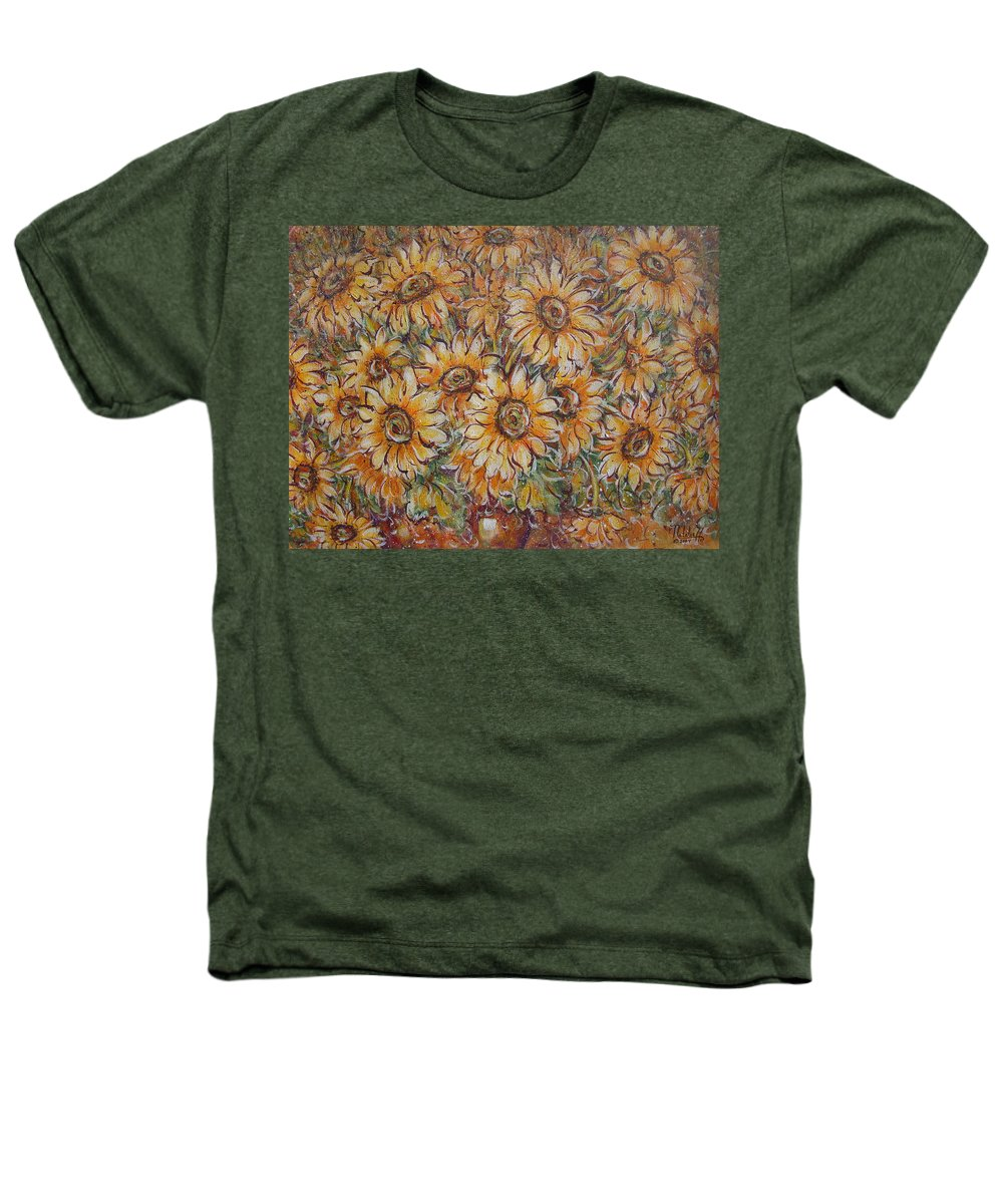 Flowers Heathers T-Shirt featuring the painting Sunlight Bouquet. by Natalie Holland