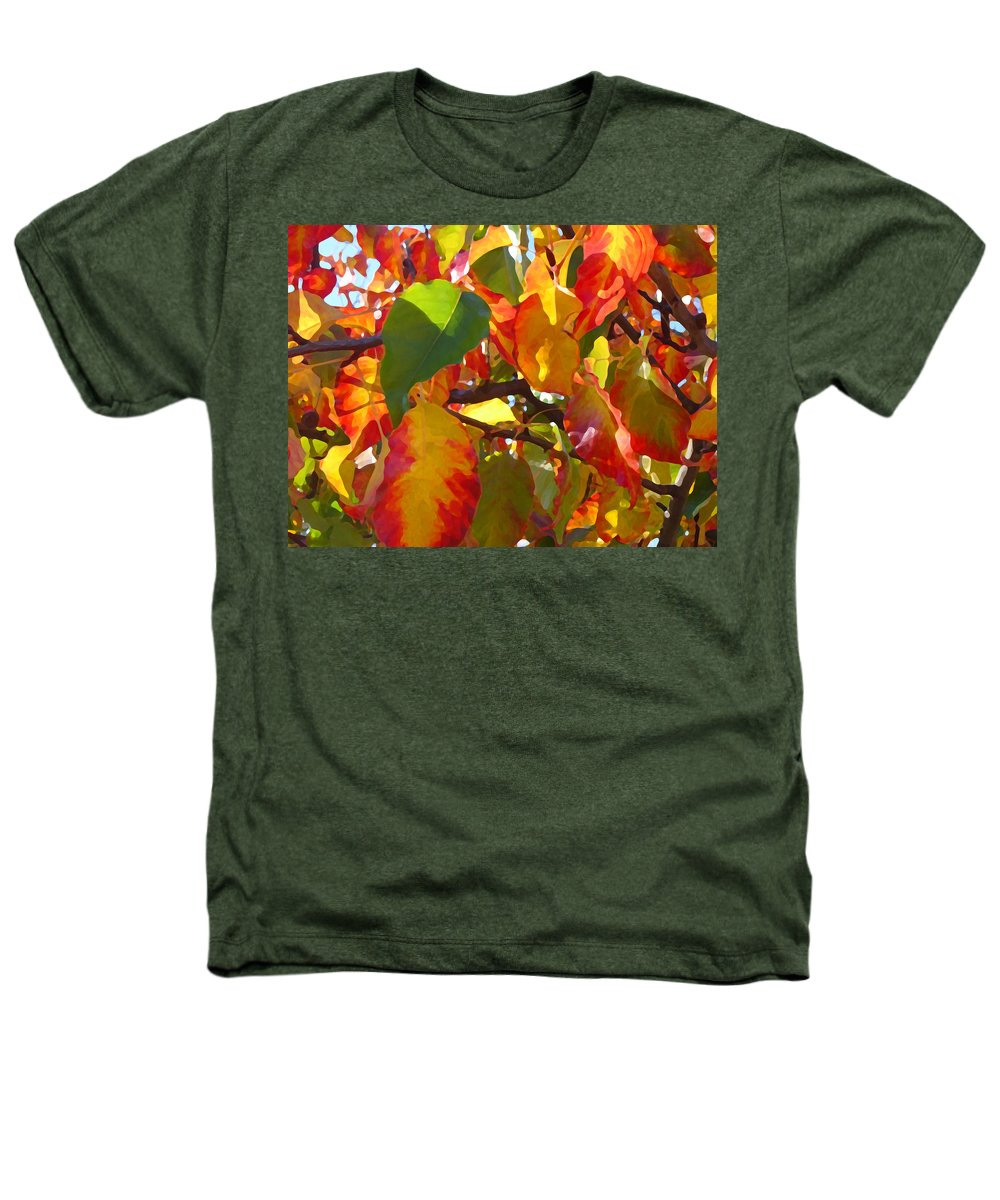 Fall Leaves Heathers T-Shirt featuring the photograph Sunlit Fall Leaves by Amy Vangsgard