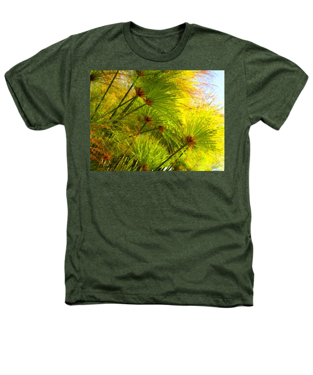 Landscape Heathers T-Shirt featuring the painting Sunlit Paparus by Amy Vangsgard