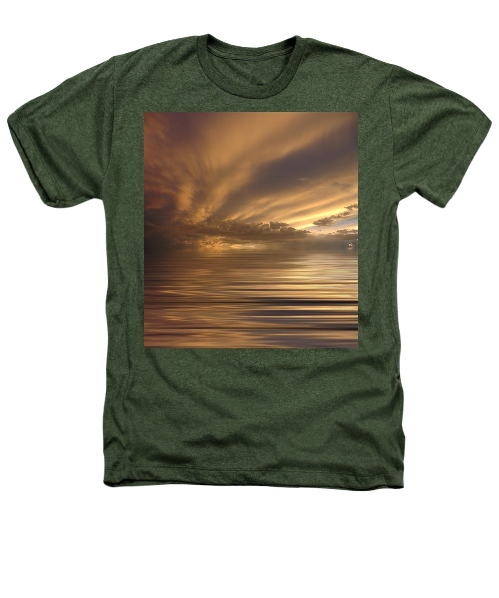 Sunset Heathers T-Shirt featuring the photograph Sunset At Sea by Jerry McElroy