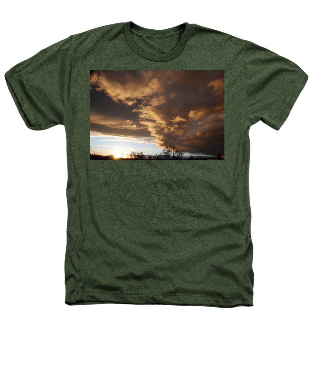 Sunset Heathers T-Shirt featuring the photograph Sunset At The New Mexico State Capital by Rob Hans