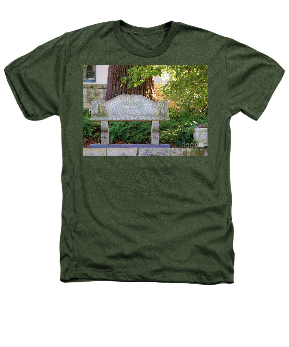 Bench Heathers T-Shirt featuring the photograph Take A Break by Debbi Granruth
