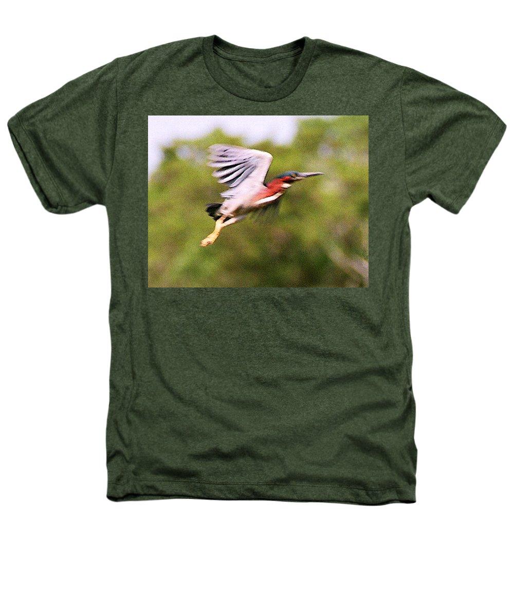 Wild Life Heathers T-Shirt featuring the digital art Take Off by Steve Karol