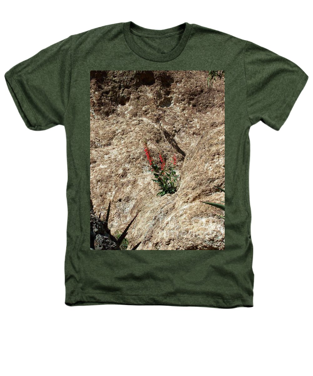 Wildflowers; Flowers Heathers T-Shirt featuring the photograph Tenacity by Kathy McClure