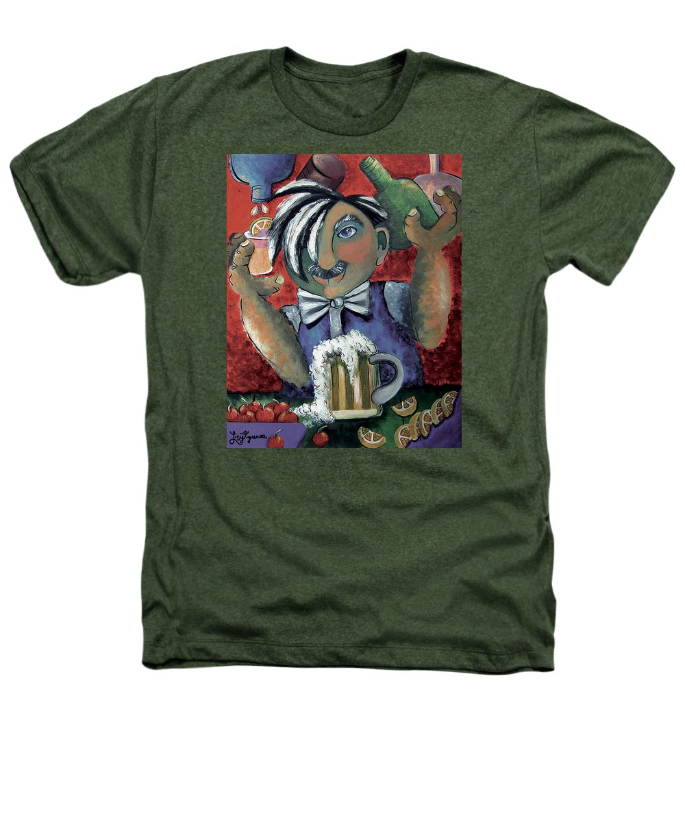 Bartender Heathers T-Shirt featuring the painting The Bartender by Elizabeth Lisy Figueroa
