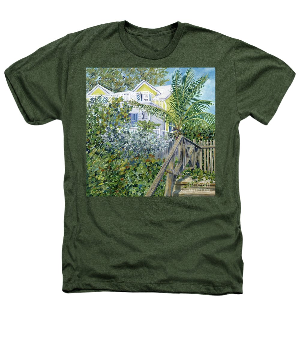 Beach House Heathers T-Shirt featuring the painting The Beach House by Danielle Perry