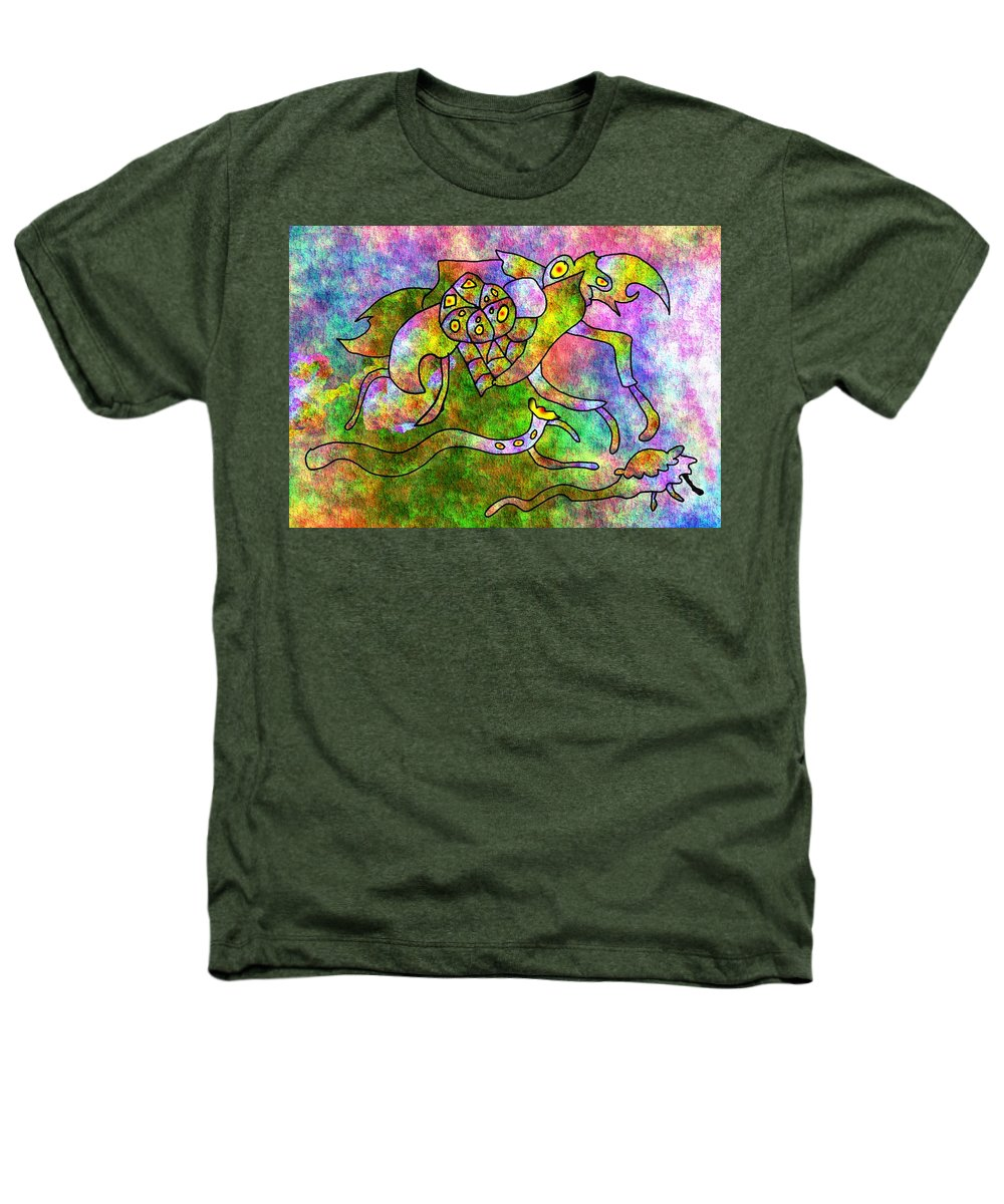 Bugs Color Texture Abstract Fun Heathers T-Shirt featuring the digital art The Bugs by Veronica Jackson
