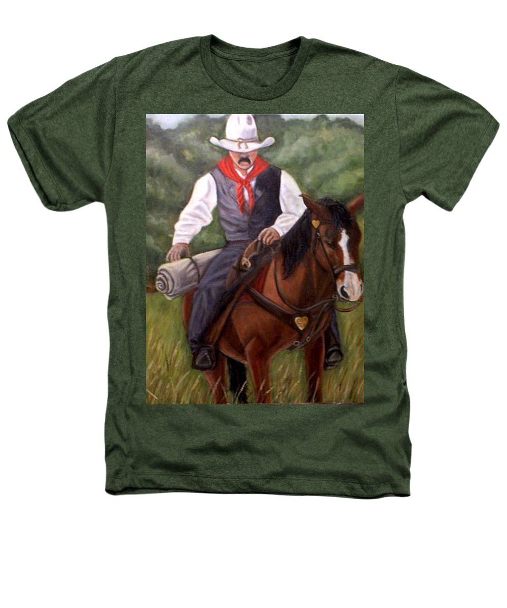 Portrait Heathers T-Shirt featuring the painting The Cowboy by Toni Berry