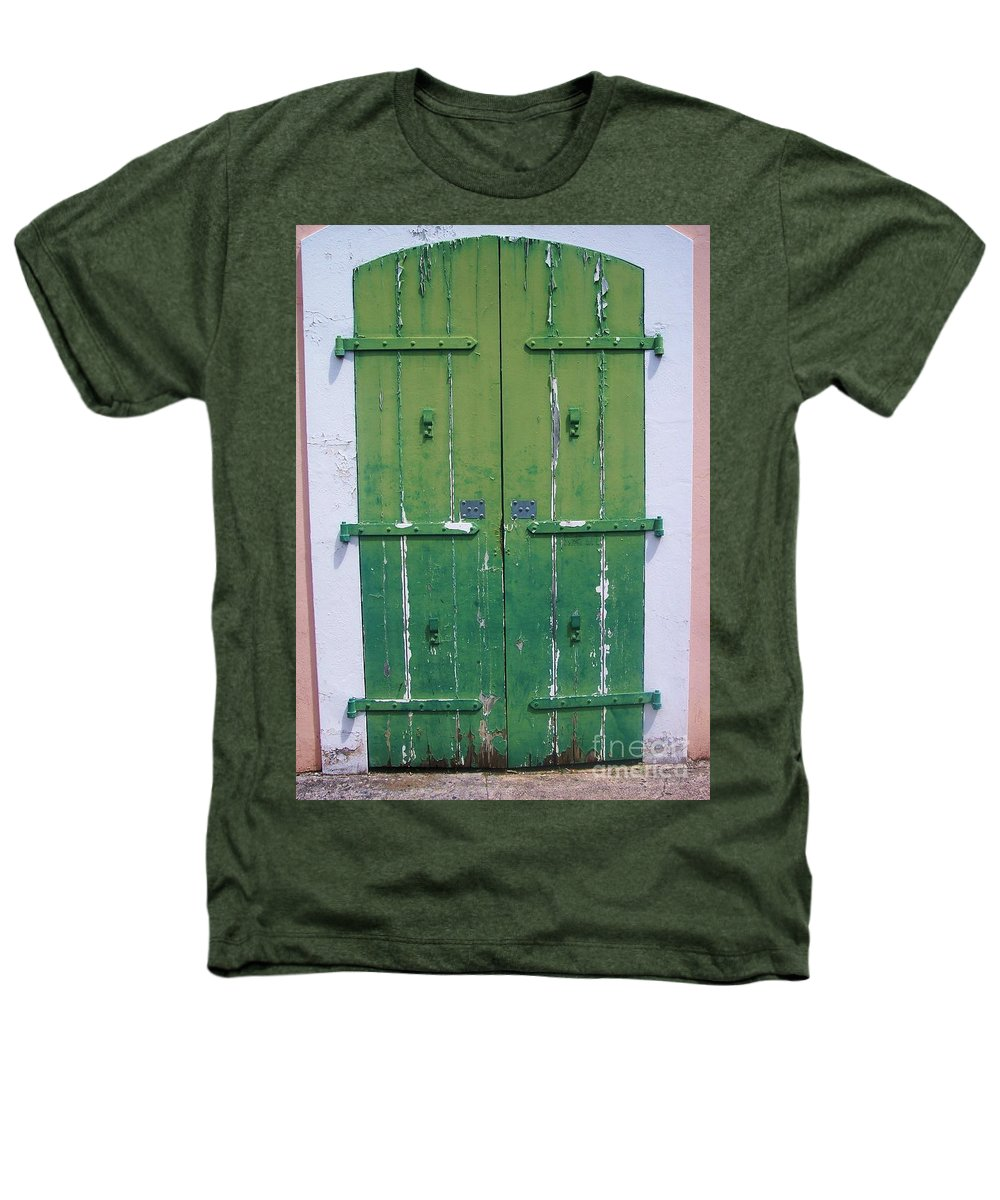Architecture Heathers T-Shirt featuring the photograph The Green Door by Debbi Granruth