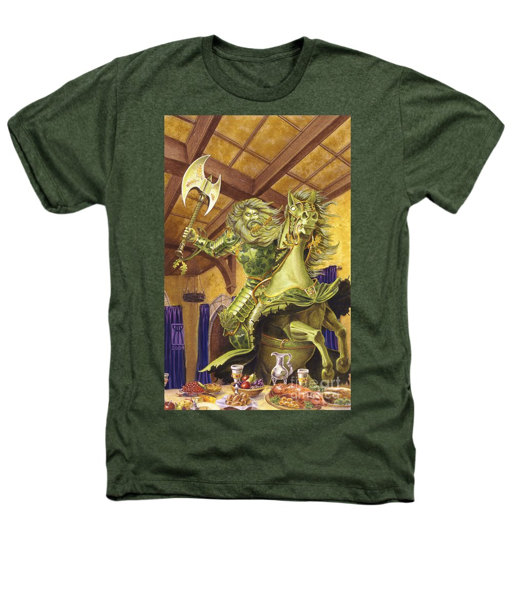 Fine Art Heathers T-Shirt featuring the painting The Green Knight by Melissa A Benson
