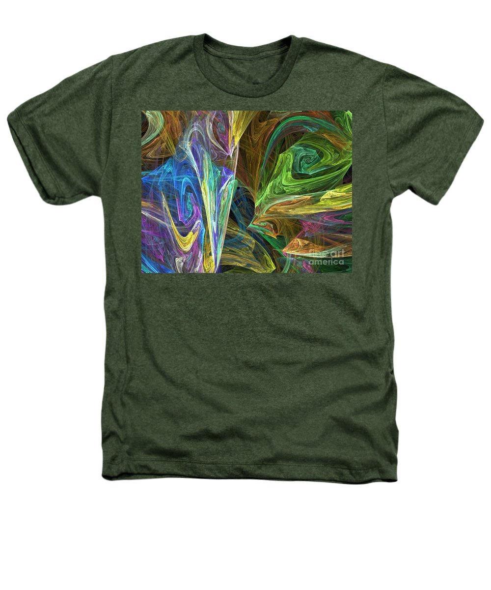 Fractals Heathers T-Shirt featuring the digital art The Groove by Richard Rizzo