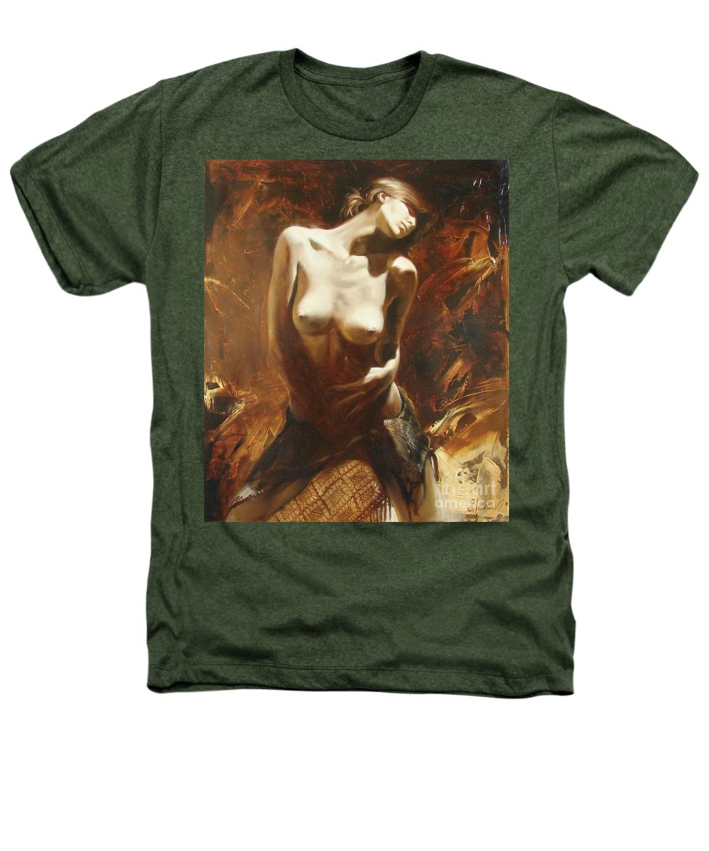 Oil Heathers T-Shirt featuring the painting The Incinerating Passion by Sergey Ignatenko